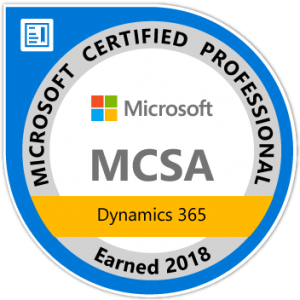 mcsa dynamics 365 certified