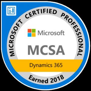 mcsa dynamics 365 certified